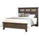 All-American Cassell Park Queen Tile Bed in Dark Roast