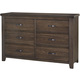 All-American Cassell Park 6 Drawer Dresser in Dark Roast