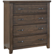 All-American Cassell Park 4 Drawer Storage Chest in Dark Roast