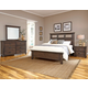 All-American Gramercy Park 4pc Tile Bedroom Set in Dark Roast