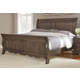 All-American Villa Sophia Queen Sleigh Bed in Dark Roast