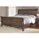 All-American Villa Sophia King Sleigh Bed in Dark Roast