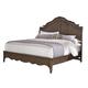 All-American Villa Sophia King Shelter Bed in Dark Roast