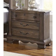 All-American Villa Sophia 3 Drawer Nightstand in Dark Roast