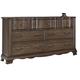 All-American Villa Sophia 7 Drawer Dresser in Dark Roast
