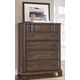 All-American Villa Sophia 5 Drawer Chest in Dark Roast