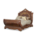 AICO Cortina Queen Sleigh Bed in Honey Walnut