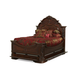 AICO Excelsior King Mansion Bed in Fruitwood