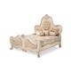 AICO Chateau De Lago California King Panel Bed in Blanc