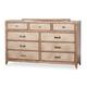 AICO Biscayne West Dresser in Sand 80050-102