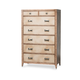 AICO Biscayne West 7-Drawer Chest in Sand 80070-102