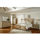 AICO Biscayne West 4-Piece Panel Bedroom Set in Sand