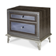 AICO Hollywood Swank Upholstered Nightstand in Amazing Gator 03040-33