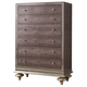 AICO Hollywood Swank 5 Drawer Upholstered Chest in Amazing Gator 03070-33