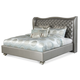 AICO Hollywood Swank Queen Upholstered Platform Bed in Graphite