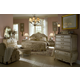 AICO Lavelle 4-Piece Mansion Bedroom Set in Blanc White