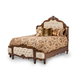 AICO Lavelle Melange Queen Wing Mansion Bed in Warm Brown 54000MQNW3-34