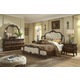 AICO Lavelle Melange 4-Piece Mansion Bedroom Set in Warm Brown