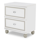 AICO Sky Tower 2 Drawer Nightstand in White Cloud 9025640-108