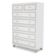 AICO Sky Tower 7 Drawer Chest in White Cloud 9025670-108