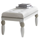 AICO Sky Tower Bedside Bench in White Cloud 9025694-108