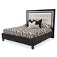 AICO Sky Tower Queen Upholstered Platform Bed in Black Ice