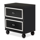 AICO Sky Tower 2 Drawer Nightstand in Black Ice 9025640-805
