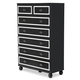 AICO Sky Tower 7 Drawer Chest in Black Ice 9025670-805