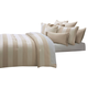AICO Amalfi 9-pc Queen Comforter Set in Sand BCS-QS09-AMLFI-SND