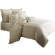 AICO Avenue A 10-pc King Comforter Set in Natural BCS-KS10-AVENU-NAT