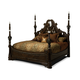 AICO The Sovereign Queen Panel Bed w/Post in Soft Mink 57000QPN3-51