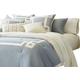 AICO Brookfield 10-pc King Comforter Set in Air BCS-KS10-BROOKF-AIR