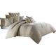 AICO Captiva 9-pc Queen Comforter Set in Neutral BCS-QS09-CAPVA-NUTR