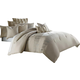 AICO Captiva 10-pc King Comforter Set in Neutral BCS-KS10-CAPVA-NUTR