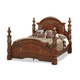 AICO Villa Valencia California King Poster Bed in Chestnut