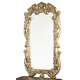 AICO Villa Valencia Decorative Mirror in Chestnut 72041-55