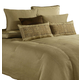 AICO Crescent Heights 10-pc King Comforter Set in Champagne BCS-KS10-CRSNTH-CMP