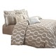 AICO Como 10-pc King Comforter Set  in Taupe BCS-KS10-COMO-TAUP