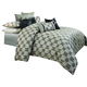AICO Daytona 9-pc Queen Comforter Set in Silver BCS-QS09-DAYTON-SIL