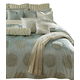 AICO Harlington 12-pc Queen Comforter Set in Ice Blue  BCS-QS12-HRLING-ICE
