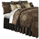 AICO Highgate Manor 12-pc Queen Comforter Set in Chocolate BCS-QS12-HIGATE-CHO