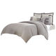 AICO Fusion 8-pc King Duvet Set in Gray BCS-KD08-FUSON-GRY