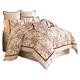 AICO Hidden Glen 9-pc Queen Comforter Set in Natural  BCS-QS09-HIDGLN-NAT