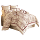 AICO Hidden Glen 10-pc King Comforter Set in Natural BCS-KS10-HIDGLN-NAT