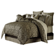 AICO Imperial 9-pc Queen Comforter Set in Bronze BCS-QS09-IMPERL-BRZ