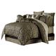 AICO Imperial 10-pc King Comforter Set in Bronze BCS-KS10-IMPERL-BRZ