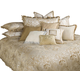 AICO Luxembourg 12-pc Queen Comforter Set in Crème BCS-QS12-LUXEMB-CRM