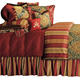 AICO Nobel Philippe 12-pc Queen Comforter Set in Red BCS-QS12-NBLPHL-RED