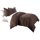 AICO Leigh 3-pc King Coverlet/Duvet Set in Cocoa BCS-KD03-LEIGH-COC