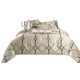 AICO Keystone Court 9-pc Queen Comforter Set in Pearl BCS-QS09-KEYSTO-PRL